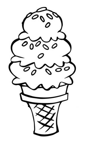 דף צביעה גלידה