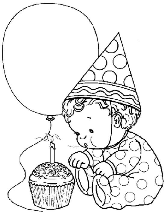 דף צביעה יום הולדת שנה