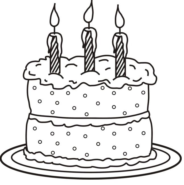 עוגת יום הולדת שלושה נרות