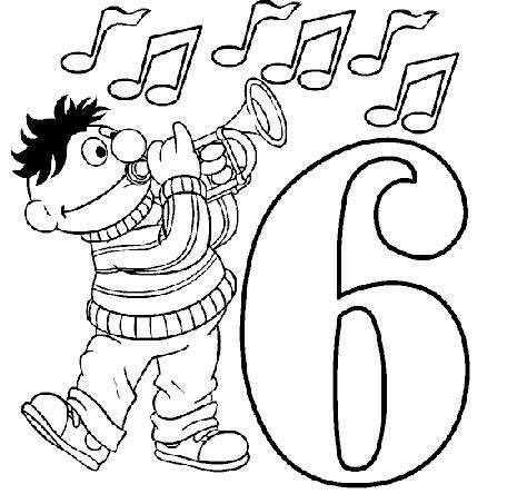 דף צביעה יום הולדת שש