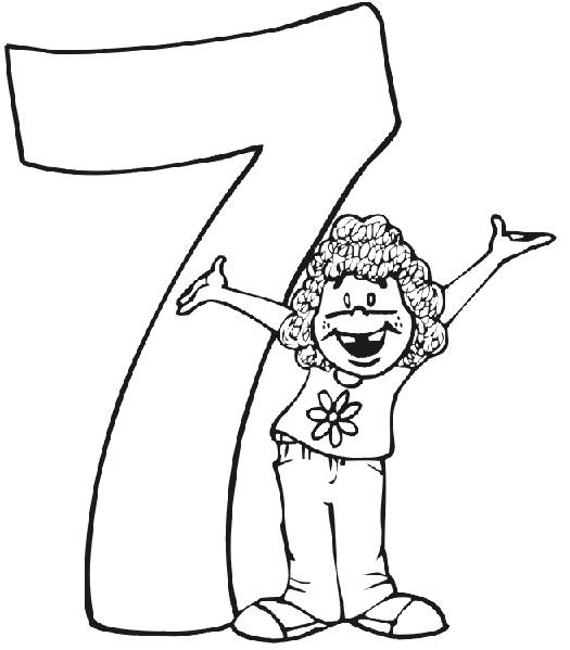 דפי צביעה יום הולדת 7