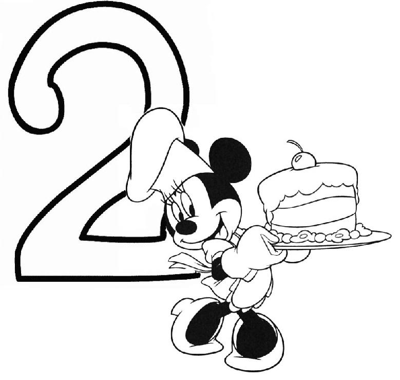 דף צביעה יום הולדת שנתיים
