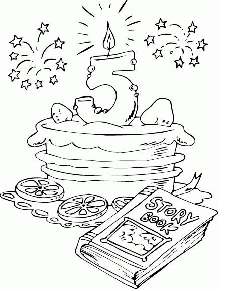 דפי צביעה יום הולדת