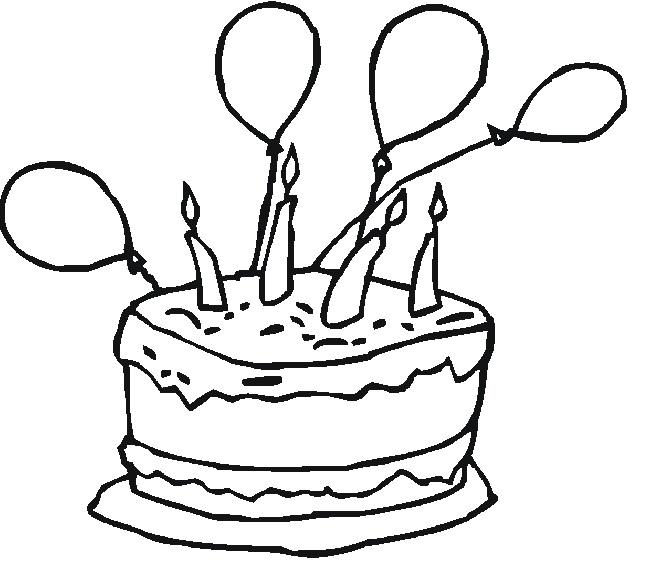 דף צביעה יום הולדת