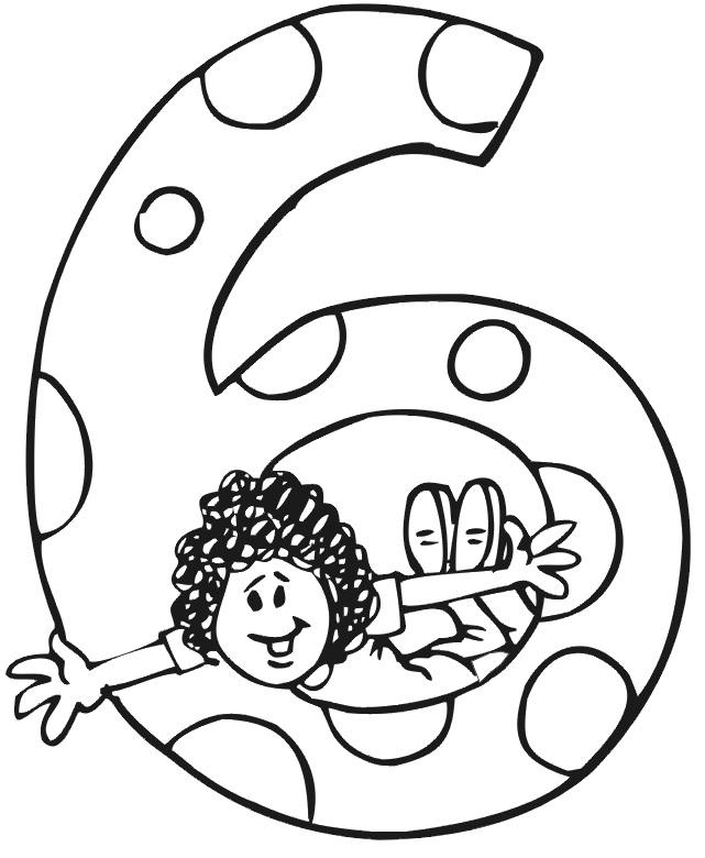 ילד בתוך המספר 6