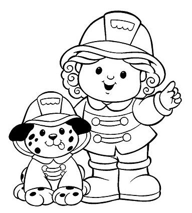 ילדה וכלב מכבי אש