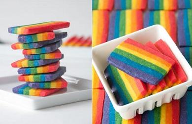 עוגיות בצבעי הקשת