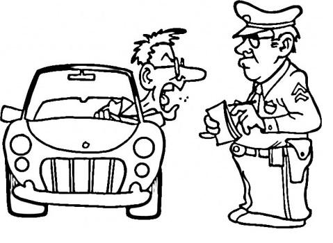 איש צועק על שוטר תנועה